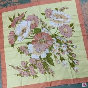 Vintage Republic of China Silk Floral Scarf